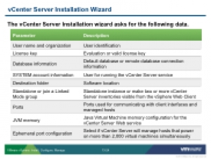 VSICM55 - Slide 13-24 - vCenter Server Installation Wizard