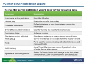 VSICM51 - Slide 14-25 - vCenter Server Installation Wizard
