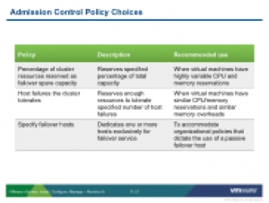 VSICM51 - Slide 11-21 - Admission Control Policy Choices