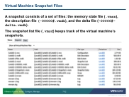 VSICM55 - Slide 07-52 - Virtual Machine Snapshot Files
