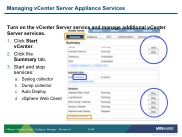 VSICM51 - Slide 14-40 - Managing vCenter Server Appliance Services